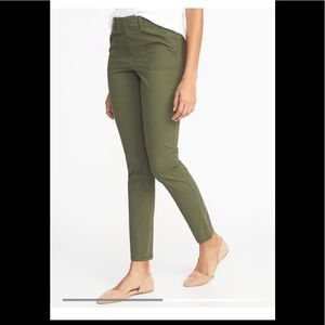 Army green pixie chinos from Old Navy size 14